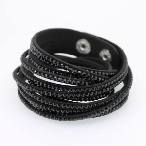 Bracelet cristal noir