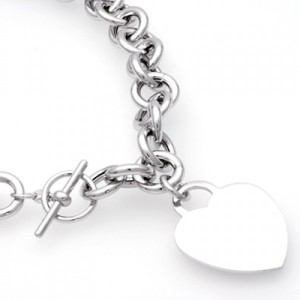 Chaine argent coeur