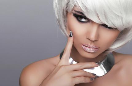 Stare. Fashion Blond Girl. Beauty Portrait Sexy Woman. White Sho