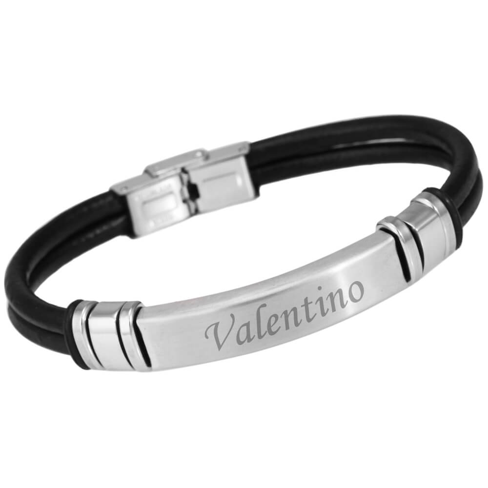 Bracelet-cuir-noir-personnalise